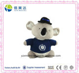 Lovely Stuffed Wearing T-Shirt Koala Plush Animal Toy