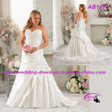 Plus Size Beaded Organza Wedding Gowns with Sweetheart Neckline