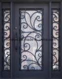 Super Quality Iron Entry Doors with Sidelites Front Door