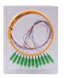 SC/APC 9/125 SM 1M 12 core fiber optic pigtail
