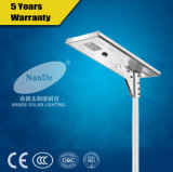 Hot Sale 15 Watts All in One LED Solar Street Lights with Lithium Battery IP65 (ND-T2001B)