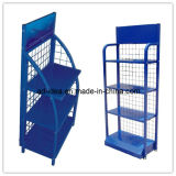 Adjustable Display Rack with 4 Fixed Metal Shelves
