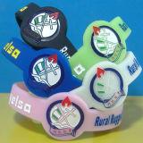 Custom Debossed Ink Filled Watch Shape Silicone Bracelets