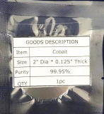 99.95% Purity Cobalt Sputtering Target of High Quality, Co Target