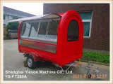 Ys-FT280A Red Multifunction Fast Food Trailer with Sliding Window