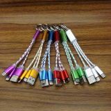 2 in 1 USB Charging Micro 8pin Keychain USB Cable
