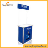 Promotion Counter with Top Board for Advertising