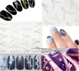 Silver Zipper Pattern Water Transfer Nail Art Stickers Nail Sticker