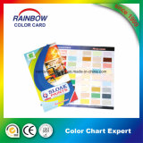 folded color card/chart