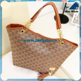 Bw1-069 Tote Type Leather Bags Black Sport Bag Handbag Women