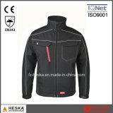 OEM Workwear Mens Ripstop Waterproof Black Softshell Jacket