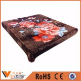 China Textile 100% Polyester 2ply Flower Blanket