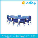 Educational Equipment Plastic Moon Shape Table and Chair
