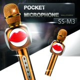 Creative Design M3 Metal Wireless Bluetooth Microphone Support Various Platform Karaoke Microphone Stereo Bluetooth Speaker