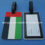 Custom Soft PVC UAE Country Flag Souvenir Luggage Tags, PVC Luggage Tags for UAE National Day
