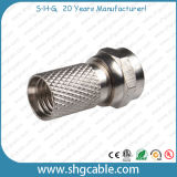 Coaxial Cable Rg59 RG6 Twist on F Connectors (F01)