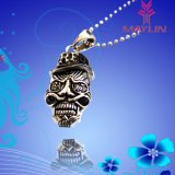 Fashion 316 Stainless Steel Bull Demon Skull Pendant Necklace for Men Women
