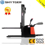 New 1.6ton Electric Stacker with 3stage 4.5m Lifting Height