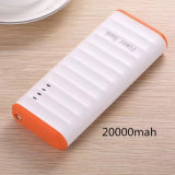 High Capacity 20000mAh Portable USB Power Bank with LED Light for Mobile Phone
