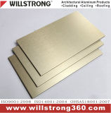 Silver Brushed Lines Aluminum Composite Panel for Exterior Facades