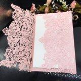 New Design Customized Pearl Card Wedding Invitation Card