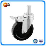 Medium Duty Round Stem Rubber Wheels