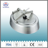 Sanitary Stainless Steel Round Outward Manhole Cover with Blue Handle (No. NM13013)
