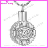 Urn Necklaces Round Pendants with Colourful Crystals for Mom Ijd9647