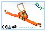 2017 Ratchet Strap with Alloy Buckle and Double J Hook