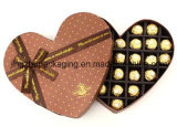 Rigid Paper Cardboard Heart Shape Packing Gift Box for Chocolate