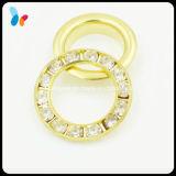 Decorative Rhinestone Beads Gold Metal Eyelet for Garment