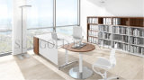 Modern Appearance Polished Office Desk with Semi-Circle Side Table (SZ-OD603)