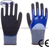 Anti-Cut 5 Nitrile 3/4 Coated Sandy Outer Safety Work Gloves
