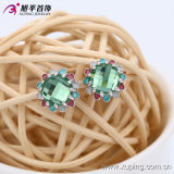 Fashion Elegant Rhodium -Plated Round Crystal Zircon Jewelry Earring Pin -29588