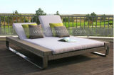 Mtc-111 Rattan Furniture Malaysia Chaise Lounge Garden Double Sofa Bed