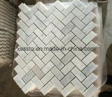 Bianco Carrara White Marble Mosaic Tiles for Bathroom Wall and Floor and Kitchen Backsplash