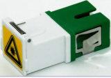 Sc/APC Simplex Fiber Optical Adapter with Shutter
