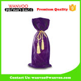 Professional Purple Single Bottle Wine Bag with Velvet