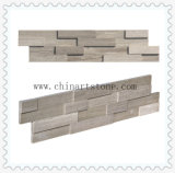 China White Wooden Marble Slate Culture Stone for Wall Cladding