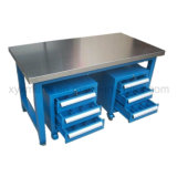 Heavy Duty Workship Stainless Steel Workbench with Two Cabinet