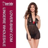 Hot Style Black Sexy Lingerie Lace Babydoll (L2028)