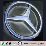 Car Dealership Advertising Logo/Wall Mounted LED Lighten Acrylic Car Brands Logo Names