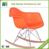Custom 21 Century Design Shining Plastic Chair Furniture Living Room with Wooden Leg (John)