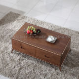 Whole Price Living Room Furniture Wooden Coffee Table with Drawers
