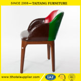 Restaurant PU Leather Dining Arm-Chair