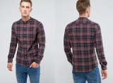 Skinny Buffalo Check Shirt with Grandad Collar