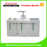 Hot Sale Square Ceramic Soap Dispenser Bathroom Accessory on Home Decoration