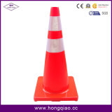 """36"""" High 9.5 Lb Orange Traffic Cone with Two 4"""" Reflective Collars"""
