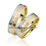 European Handmade Hammer Finish Wedding Ring