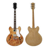 Aiersi Brand Spalted Maple 335 Style Semi Hollow Body Jazz Guitar
